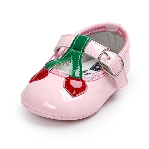 kingko® Moderne Baby Kleinkind SchuheBaby Kirsche Prinzessin Soft Sohle Schuhe Kleinkind Turnschuhe Freizeitschuhe Rosa