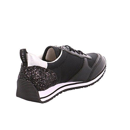 ESPRIT Damen Jilly Lace Up Sneakers Schwarz