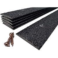 Pack of 20 Anti Slip Decking Strips 50mm x 1000mm Black