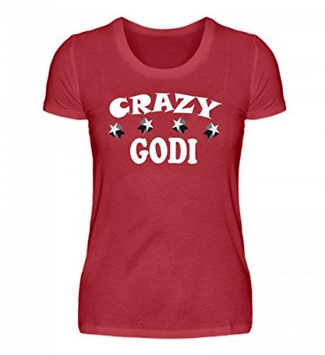 Camicia Da Donna Di Alta Qualità Da Donna Di Shirtee - Pazza Godi Rosso Scuro