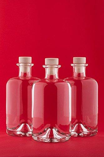 6 bottiglie di vetro vuote da 500 ml apo spi bottiglie di succhi di farmacia 0,5 litro bottiglie di liquore bottiglie di olio bottiglie di bottiglie di liquore aceto di fabbrica di seta