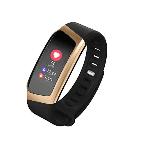 Fitness activity tracker, orologio con cardiofrequenzimetro impermeabile ip70 fitness watch, sonno monitor, smart alert, funzioni di comunicazione, pedometro pedometro orologio per ios android phone