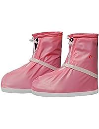 Cubrecalzado Impermeable de PVC,Resistente y Reutilizable Zapatos Cubiertas con Suela Antideslizante Resistente al para