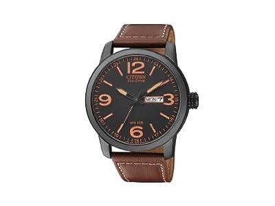 Citizen BM8476-07E - Reloj analógico de cuarzo para hombre, correa de piel de borrego color marrón de Citizen