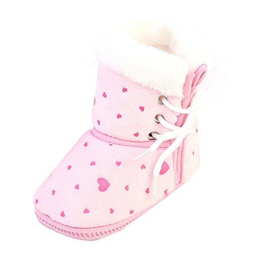 Schneeschuhe Baby Schuhe Baumwolle Kleinkind Neugeborenes Baby Stiefel Weiche Sohle Stiefel Prewalker Warme Schuhe Luckygirls (8) (Anzug Satin Gefüttert)