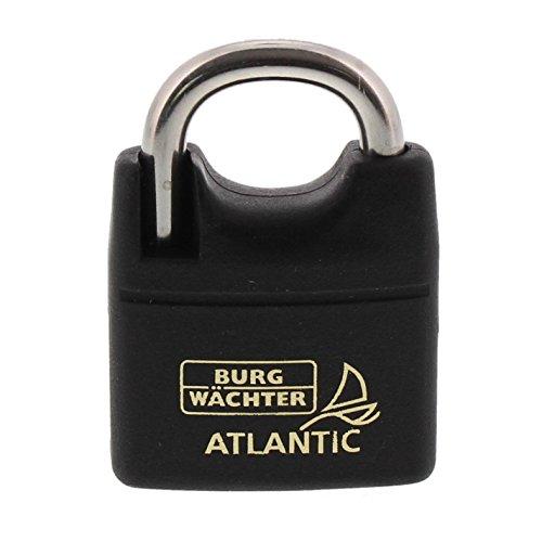 Burg-Wächter Vorhängeschloss, 6 mm Bügelstärke, 2 Schlüssel, Atlantic 217 F 40 Ni SB, 1 Stück