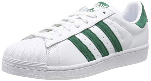 adidas Herren Superstar Sneaker, Weiß (Footwear White/Collegiate Green/Footwear White 0), 44 - Superstars Herren Adidas