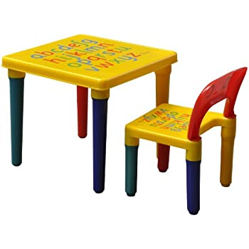 bebe style childrens crayon themed wooden table and chair. Black Bedroom Furniture Sets. Home Design Ideas