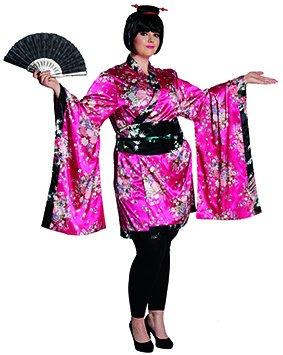 ,Karneval Klamotten' Kostüm Geisha Kimono Japan Kostüm Karneval Kimono Damenkostüm Größe 46/48 (Japan Motto Kostüm)