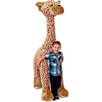 Inflate-A-Mals Inflatable Plush 6ft Giraffe,Brown