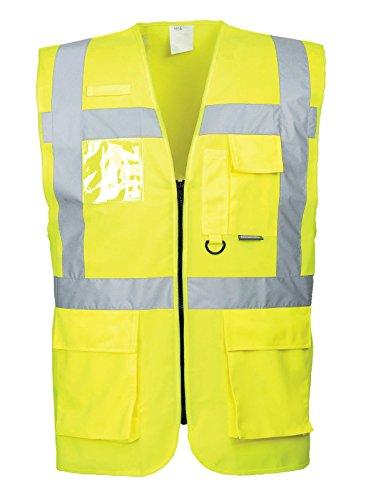 Warnweste, Warnschutzweste, Weste, Sicherheitsweste (M, gelb)