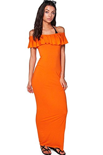 Orange Femmes Tall Ellia Robe Maxi De Plage À Épaules Dénudées Orange