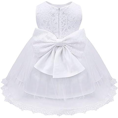 iEFiEL Vestido Elegante de Princesa para Niñas Bebés Vestido de Bautizo Fiesta Boda