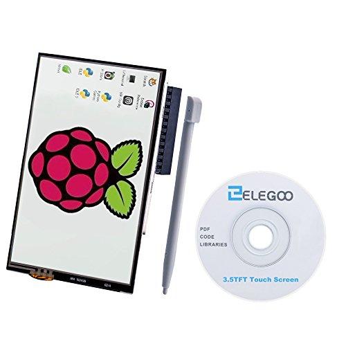 Elegoo Pantalla Táctil TFT LCD 480x320 de 3,5 Pulgadas para Raspberry Pi 3 2 Raspberry Pi Modelo B B + A + A Pantalla Táctil TFT 320x480,Interfaz SPI Módulo con Touch Pen SC06