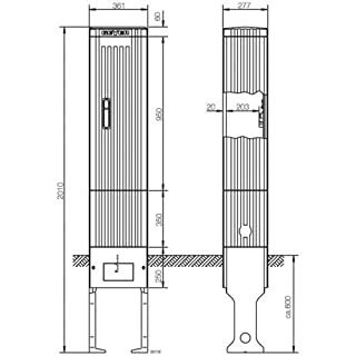 ABN Braun–SL202P incl Spalte contador. Montageplatte u. Steckdose