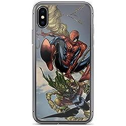 Coque Transparente pour iPhone X/XS, XR, XS Max, 7/8, 7 Plus/8 Plus, 6/6S, 6 Plus/6S Plus Motif Spider Man vs Green Goblin Comics Hero iPhone X/XS Transparent