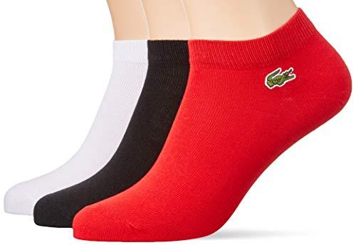 Lacoste Sport Herren Ra1163 Socken, Rot (Rouge/Noir-Blanc B8x), 41/42 (Herstellergröße: 6) (3er Pack)