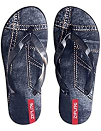 Azotic Men's Denim Flip-Flops And House Slippers