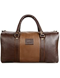 The Clownfish Ambiance Series Unisex Synthetic 18 Inch/20 Litres Brown Duffle Travel Bag