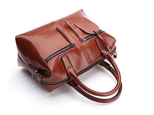 Xinmaoyuan Borse donna vacchetta spalla croce obliqua del pacchetto di borsette in pelle Sacchetto a cuscino Brown