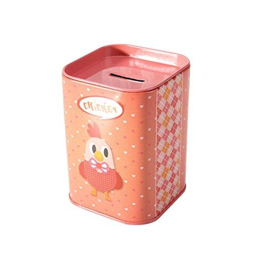 Igemy Metall Süßigkeiten Trinket Zinn Schmuck Eisen Piggy Bank Münze Lagerung Square Box Case (D) (Square D-box)