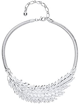 Front Row Silver Colour Angel Wing Necklace of Length 42-51cm