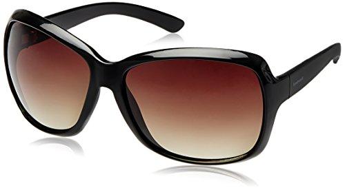 Fastrack Black Oversized Sunglasses (Black)(P187BR2F)