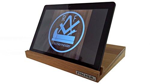 Preisvergleich Produktbild Tablet Halter, Tablet Ständer, I Pad Halter, I Pad Ständer aus Holz (Eiche, ca. 30,4 x 21,2 x 2,5 cm (12 Zoll))