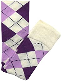 Colourful Party Emo Over Knee School Holiday Argyle Check Diamond Socks