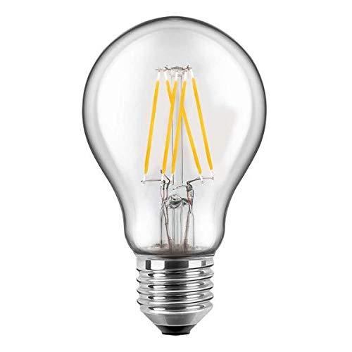 Blulaxa LED Filament Lampe Birnenform 7 Watt WW Glas (klar), DOPPELPACK EEK: A++