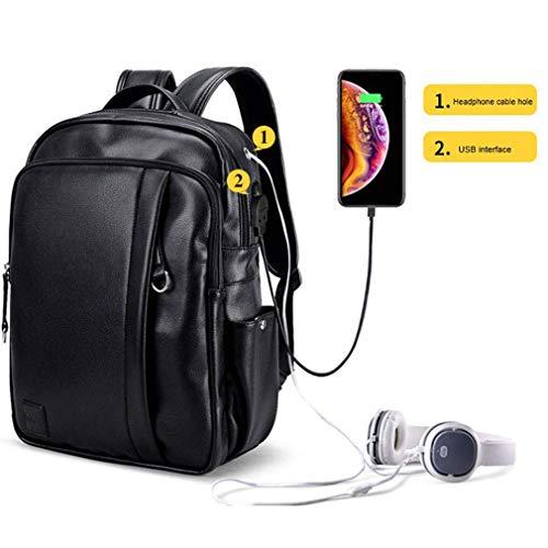 Faukku 14 Zoll wasserdichter Laptop-Rucksack, beiläufiger Tagesrucksack der Geschäftsarbeit mit USB-Lade- / Kopfhöreranschluss, Hochschul- / Highschool-Taschen-Computer-Rucksack für Geschäft/Reise