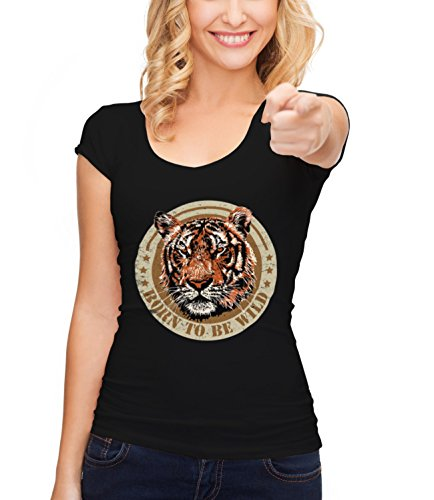 three-monkeys-tiger-born-to-be-free-animals-collection-womens-megan-crew-neck-t-shirt-schwarz-small