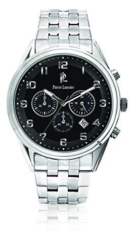 Pierre Lannier 208D131 - Reloj de pulsera hombre, acero inoxidable, color plateado