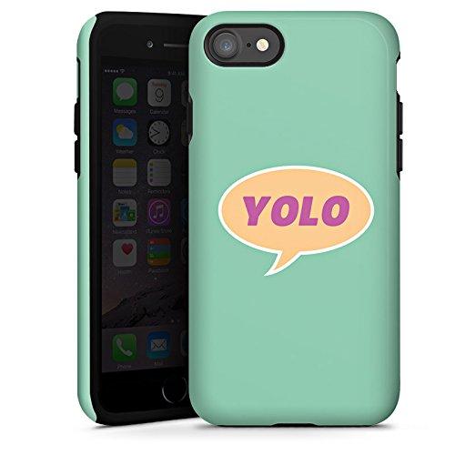 Apple iPhone X Silikon Hülle Case Schutzhülle YOLO Sprechblase Statement Tough Case glänzend