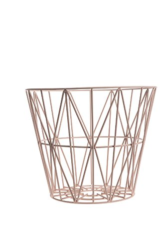 Ferm Living – Wire Basket Panier – Rose – S – Table – Table d'appoint – Table basse – Canapé design