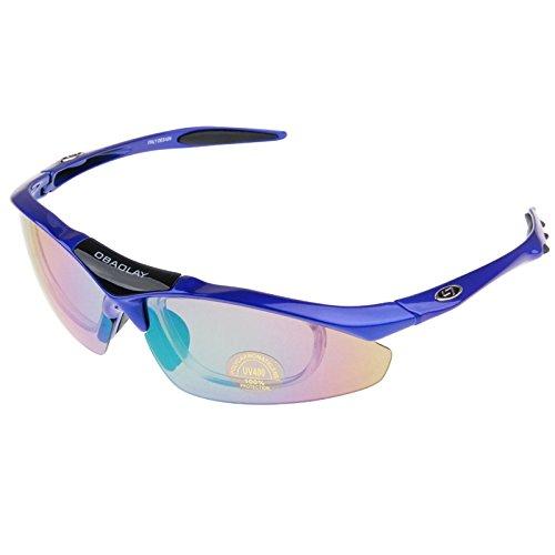 OBAOLAY UV400 Schutz Sonnenbrillen für Outdoor-Sport (blau)