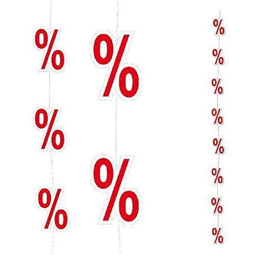 DekoWoerner Prozent-Kette 2m doppels.11cmØ