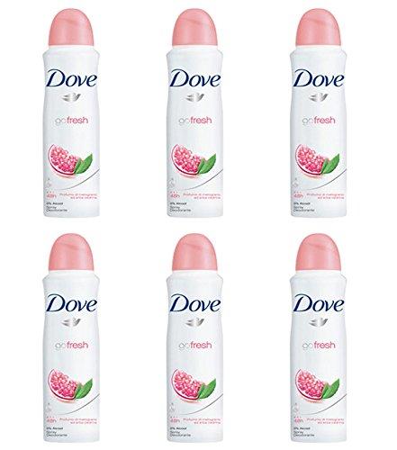 Dove Go Fresh Melograno Spray, Confezione da 6