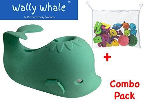 bathtub-spout-cover-kid-safe-bath-toy-organizer-bag-wally-whaletmcombo-gift-set