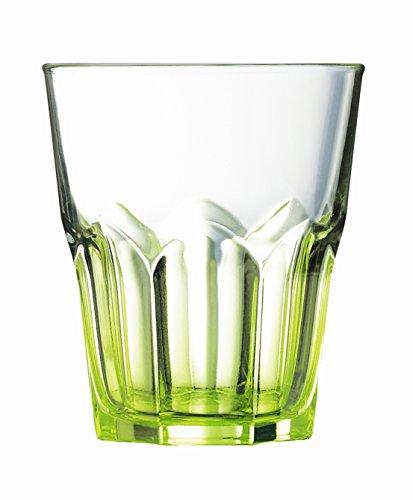Luminarc 9208301 Lot de 6 Gobelets Forme Basse America Crazy Verre Vert 30 cl