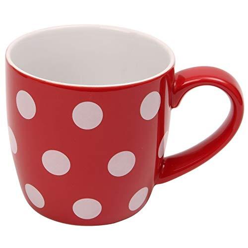 Juego de 4 tazas de cerámica con lunares blancos, 340 ml, de Londres