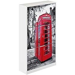 Movian Constance Modern - Armario zapatero de 3 puertas Londres, 25 x 75 x 128 cm (estampado)