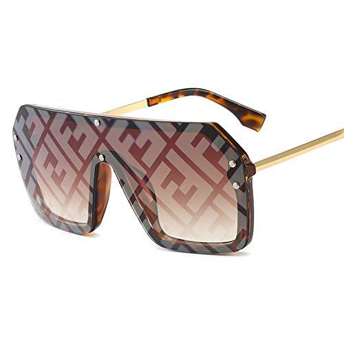 Klassisches Retro-Outdoor-EssentialBig Frame Siamese Sonnenbrillen F Watermark Letters Hip Hop Herren- und Damen-Sonnenbrillen Fashion Flat Top Siamese Sunglasses_Ink