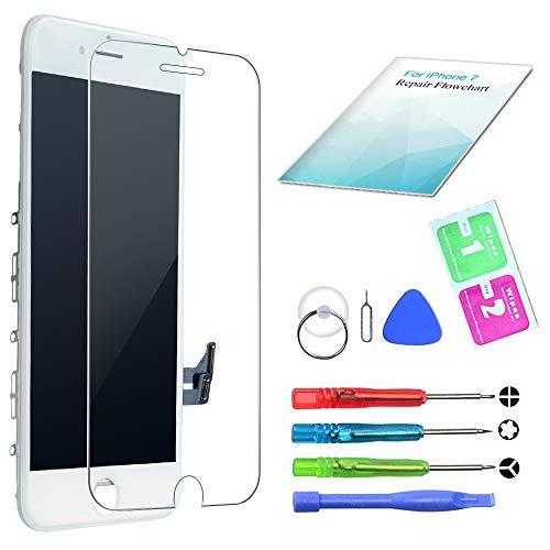 QI-EU Kompatibel mit iPhone 7 Display Weiß LCD Touchscreen Reparatur Bildschirm mit Komplettes Kostenlose Werkzeuge