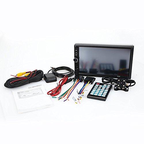 Lecteur stéréo de Voiture MP5 écran Tactile d'affichage de 7,0 Pouces Double Broche, Navigation GPS + caméra de recul