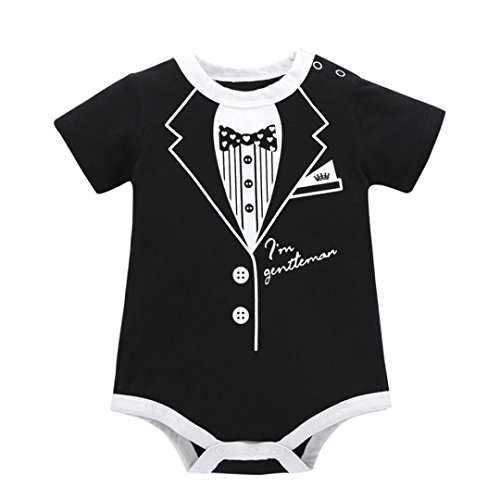 Baby Boy Summer Romper,Toddler Infant Kids Baby Girl Boy Suit Print Clothes Casual Romper Playsuit Jumpsuit Suitable for 0-24Months Baby