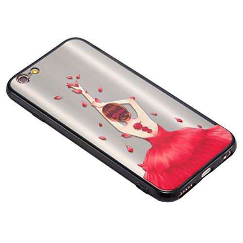 Coque pour iPhone 6,iPhone 6S étui, ETSUE Solidité Housse en PC Case pour iPhone 6/6S, Ultra-mince Noir Fond avec Belle Joli Fille Beauté Coloré Motif de Relief, Girl Femme Coque en Rêve, Housse en Ro Joli Fille 1#