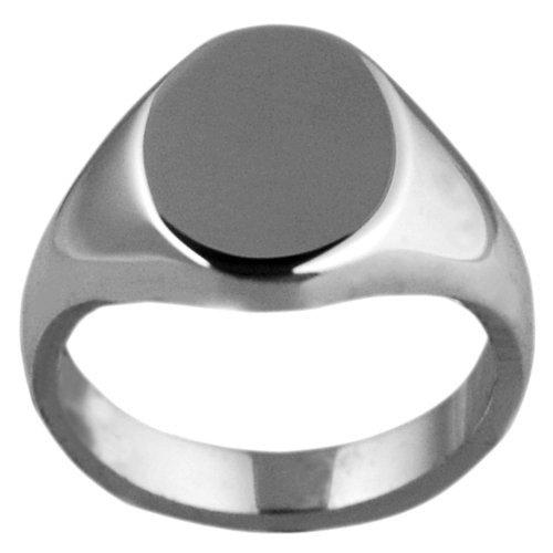 Platino-950/1000-Donna Pianura Chevalier ovale anello 13x 10mm in delle taglie 48-68, Platino, 28, cod. FR152P00IW68 - Ovale Platino Anello