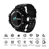 JASZHAO Smart Watch, wasserdichtes IP67 / Lange Tage Standby Smart Watch/Herzfrequenz-Blutdruckerkennung/Outdoor-Männer Sport Smartwatch,D