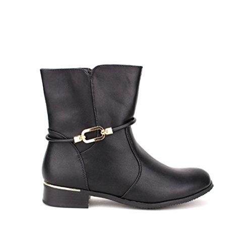 Cendriyon, Bottine noire SEALIS Chaussures Femme Noir